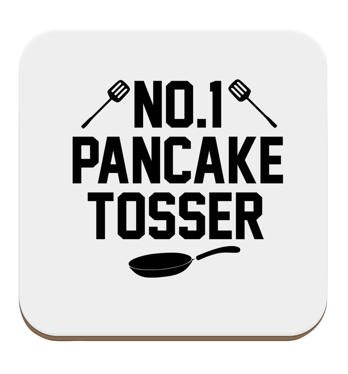 No.1 Pancake tosser set of four coasters