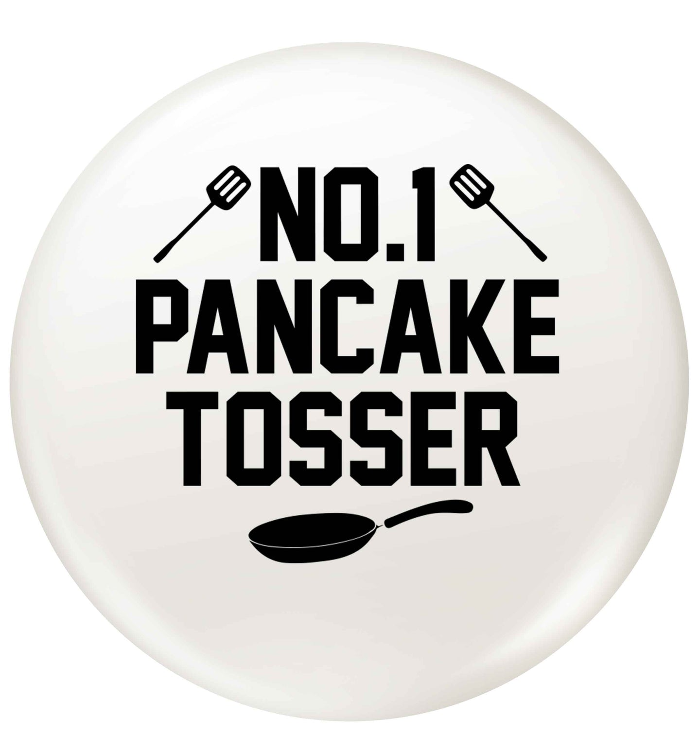 No.1 Pancake tosser small 25mm Pin badge
