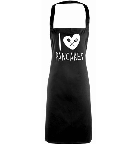 I love pancakes adults black apron