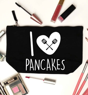 I love pancakes black makeup bag