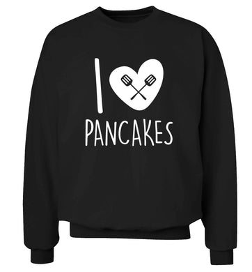I love pancakes adult's unisex black sweater 2XL
