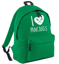 I love pancakes green adults backpack