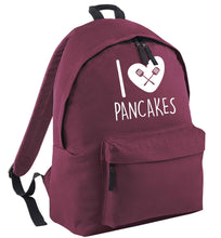 I love pancakes black childrens backpack