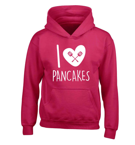 I love pancakes children's pink hoodie 12-13 Years