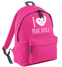 I love pancakes pink childrens backpack
