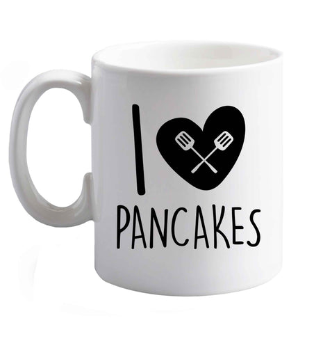 10 oz I Love Pancakes ceramic mug right handed