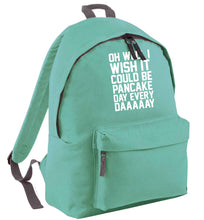Oh well I wish it could be pancake day every day mint adults backpack