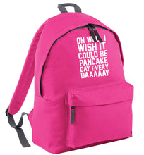 Oh well I wish it could be pancake day every day pink childrens backpack