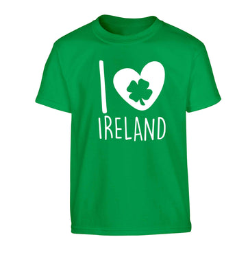 I love Ireland Children's green Tshirt 12-13 Years