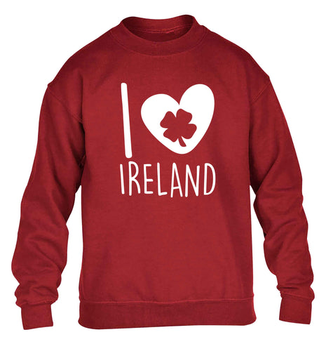 I love Ireland children's grey sweater 12-13 Years