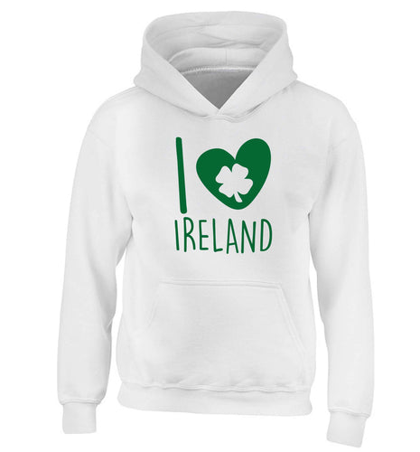 I love Ireland children's white hoodie 12-13 Years
