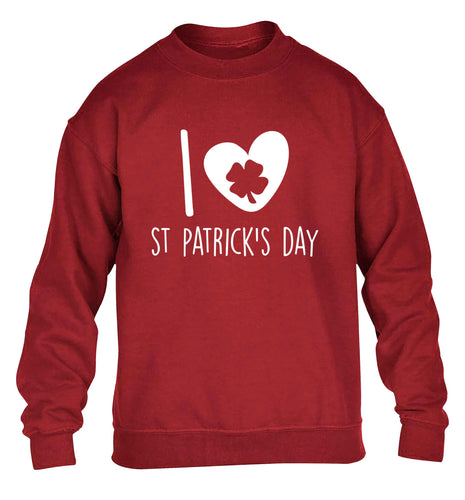 I love St.Patricks day children's grey sweater 12-13 Years