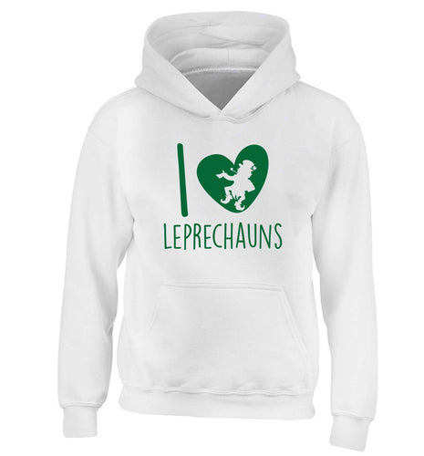 I love leprechauns children's white hoodie 12-13 Years