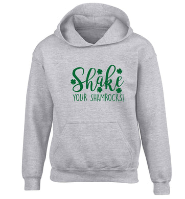 Shake your shamrocks children's grey hoodie 12-13 Years