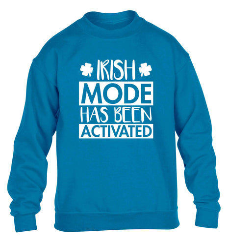 Irish mode has been activated children's blue sweater 12-13 Years
