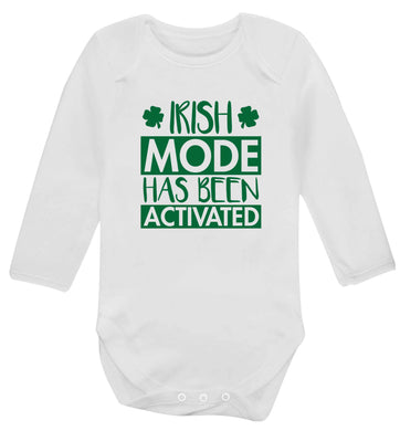 Irish mode has been activated baby vest long sleeved white 6-12 months