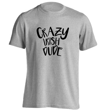 Crazy Irish dude adults unisex grey Tshirt 2XL