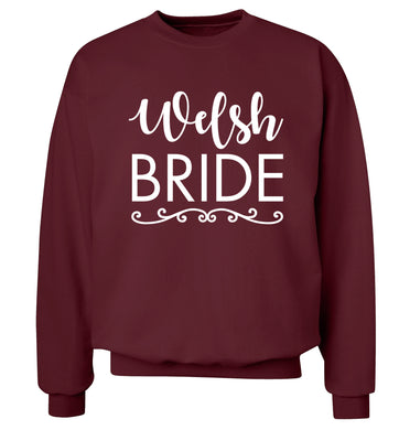 Welsh Bride Adult's unisex maroon Sweater 2XL