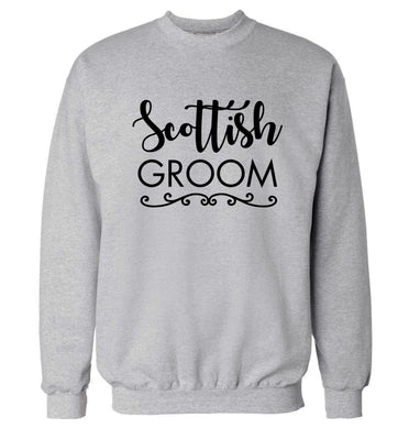 Scottish groom Adult's unisex grey Sweater 2XL