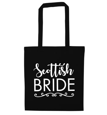 Scottish Bride black tote bag