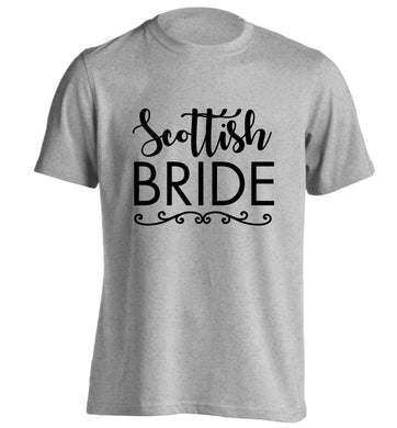Scottish Bride adults unisex grey Tshirt 2XL