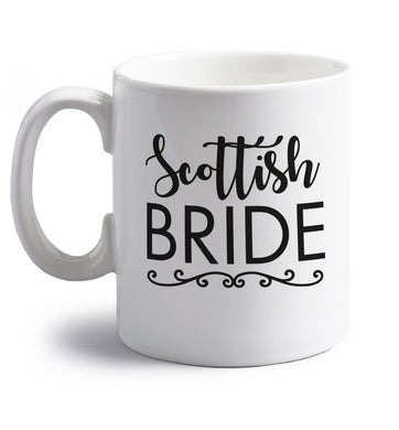 Scottish Bride right handed white ceramic mug