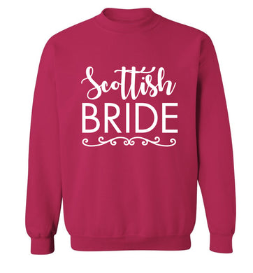 Scottish Bride Adult's unisex pink Sweater 2XL