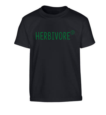 Herbivore Children's black Tshirt 12-13 Years