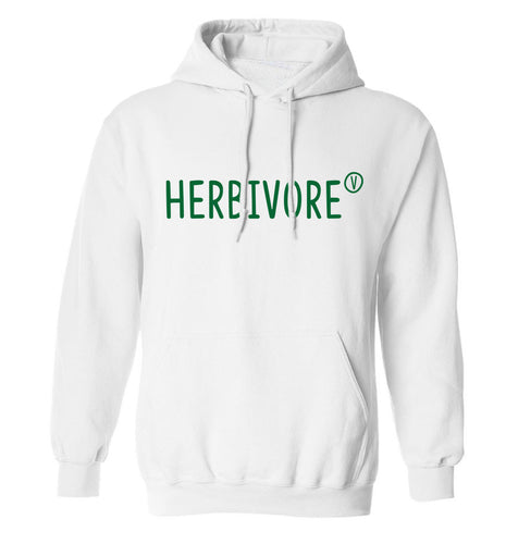Herbivore adults unisex white hoodie 2XL