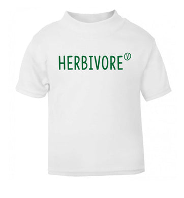 Herbivore white Baby Toddler Tshirt 2 Years