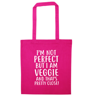Might not be perfect but I am veggie pink tote bag
