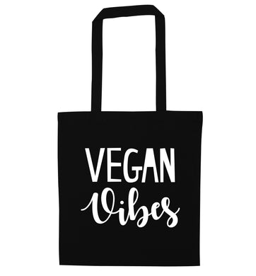 Vegan Vibes black tote bag