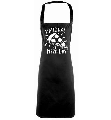 National pizza day black apron