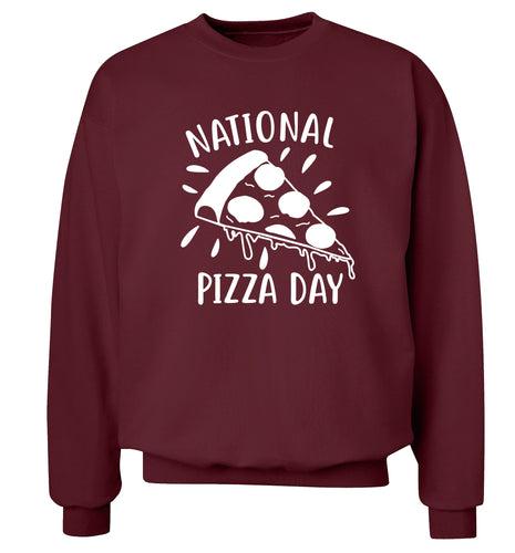 National pizza day Adult's unisex maroon Sweater 2XL