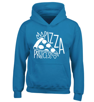 Pizza Princess children's blue hoodie 12-13 Years