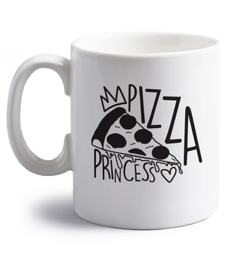 Pizza Princess right handed white ceramic mug