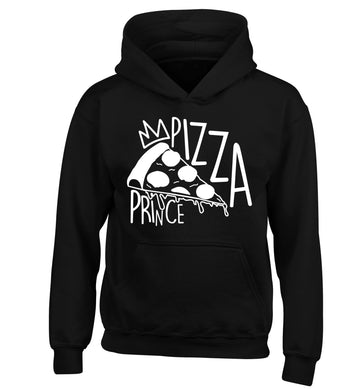 Pizza Prince children's black hoodie 12-13 Years