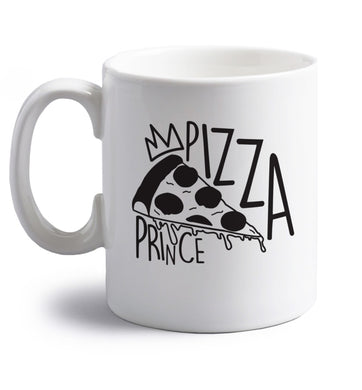 Pizza Prince right handed white ceramic mug