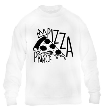 Pizza Prince children's white sweater 12-13 Years