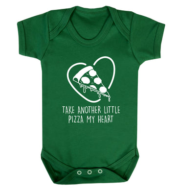 Take another little pizza my heart Baby Vest green 18-24 months