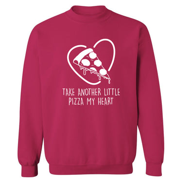 Take another little pizza my heart Adult's unisex pink Sweater 2XL