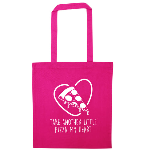 Take another little pizza my heart pink tote bag