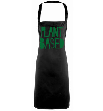 Plant Based black apron