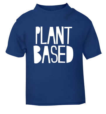Plant Based blue Baby Toddler Tshirt 2 Years