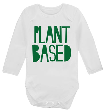 Plant Based Baby Vest long sleeved white 6-12 months