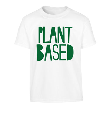 Plant Based Children's white Tshirt 12-13 Years