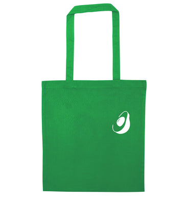 Avocado pocket green tote bag