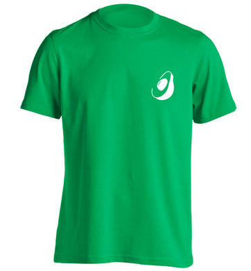 Avocado pocket adults unisex green Tshirt 2XL