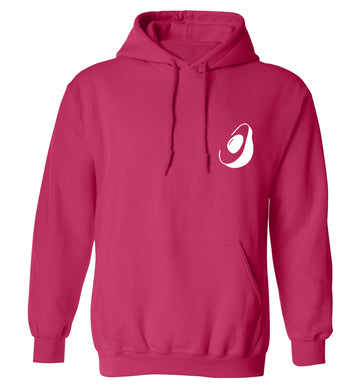 Avocado pocket adults unisex pink hoodie 2XL