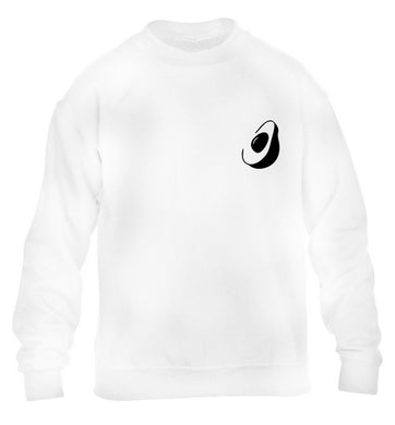Avocado pocket children's white sweater 12-13 Years